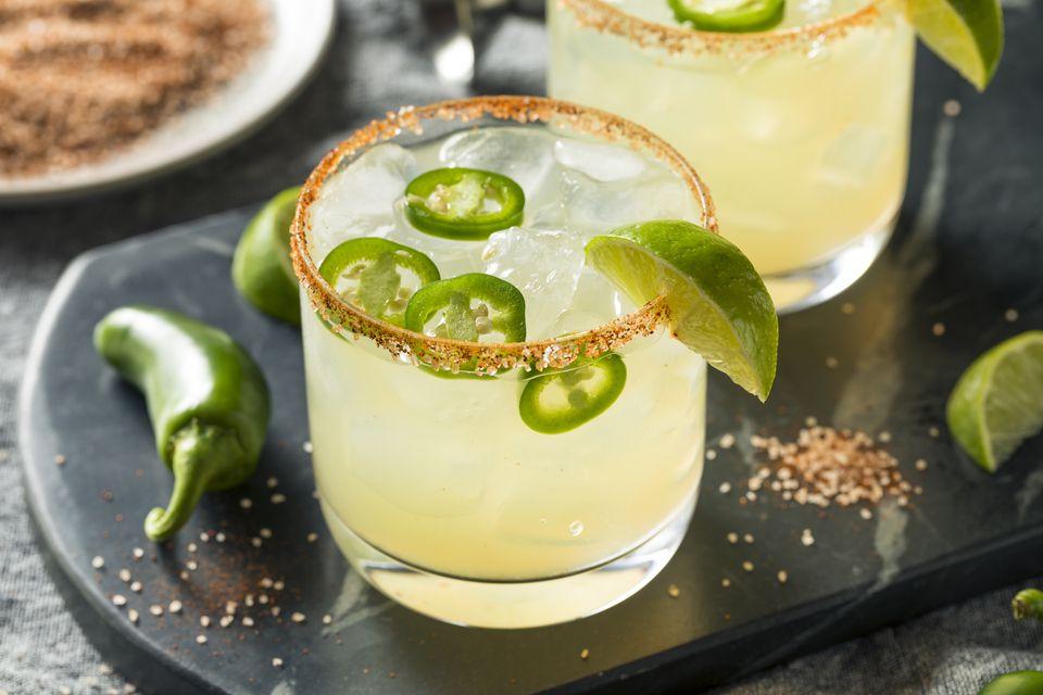 Jalapeno Margarita With Chili Rim