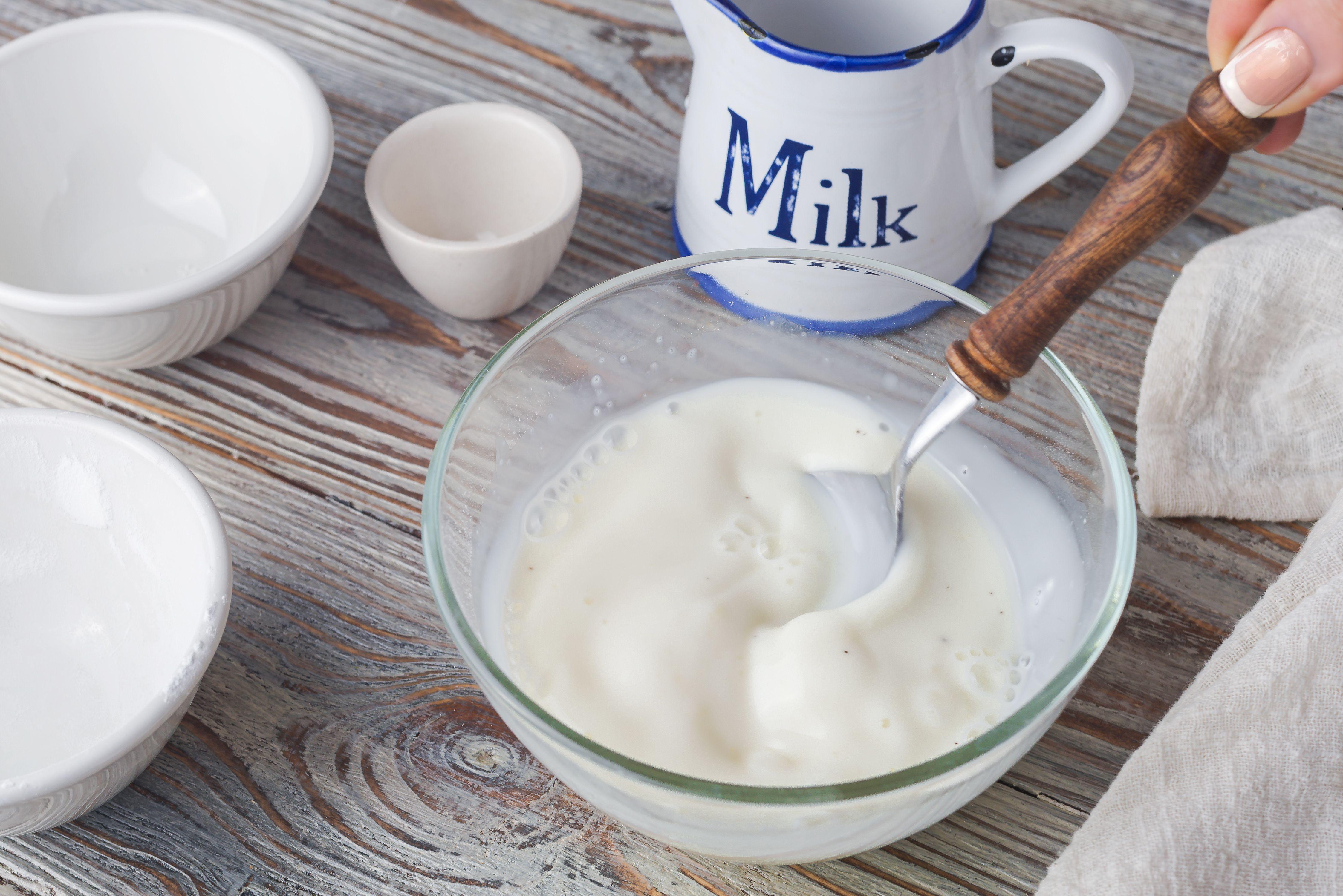 Stir in remaining milk to sugar, cornstarch, and salt