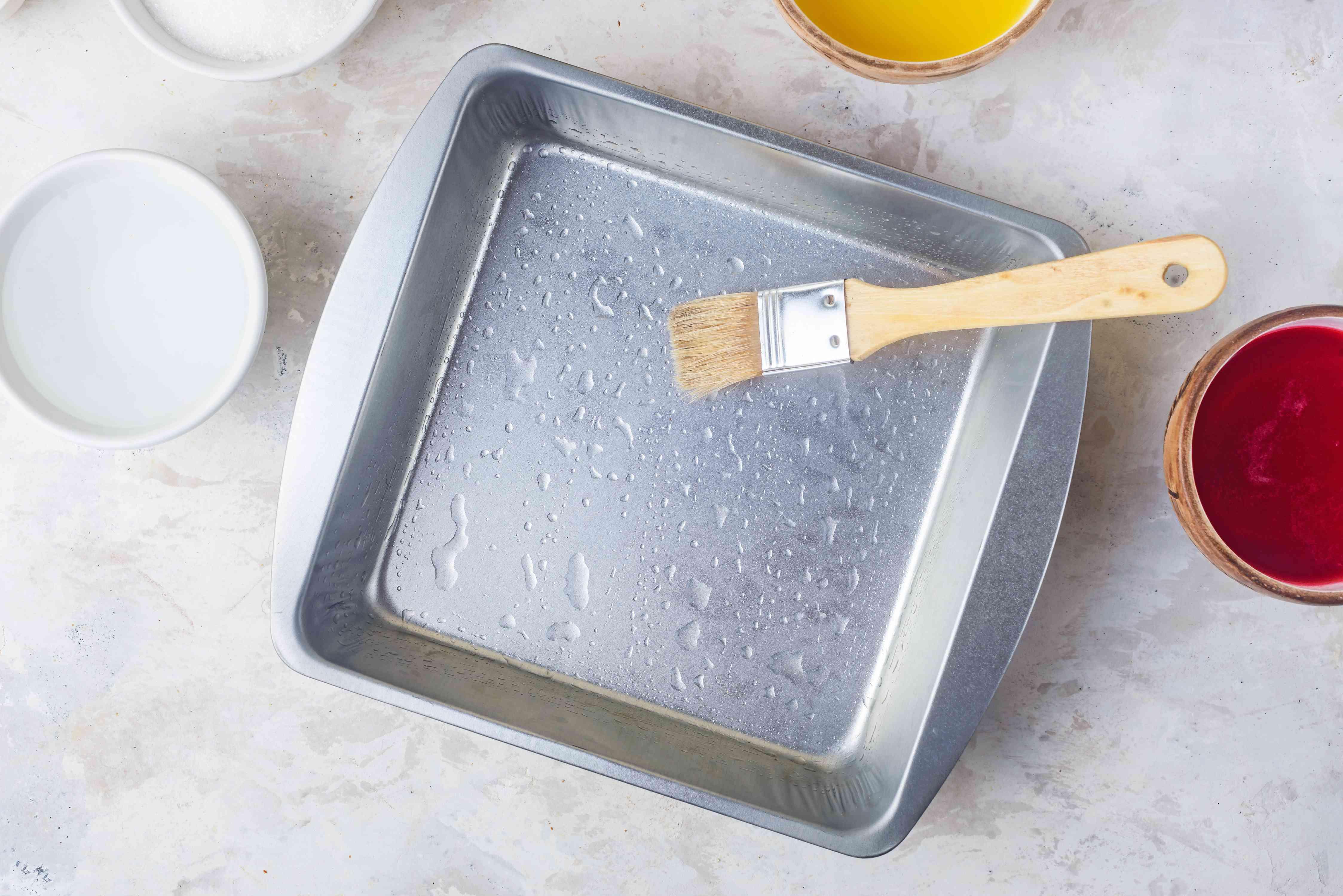 Prepare pan