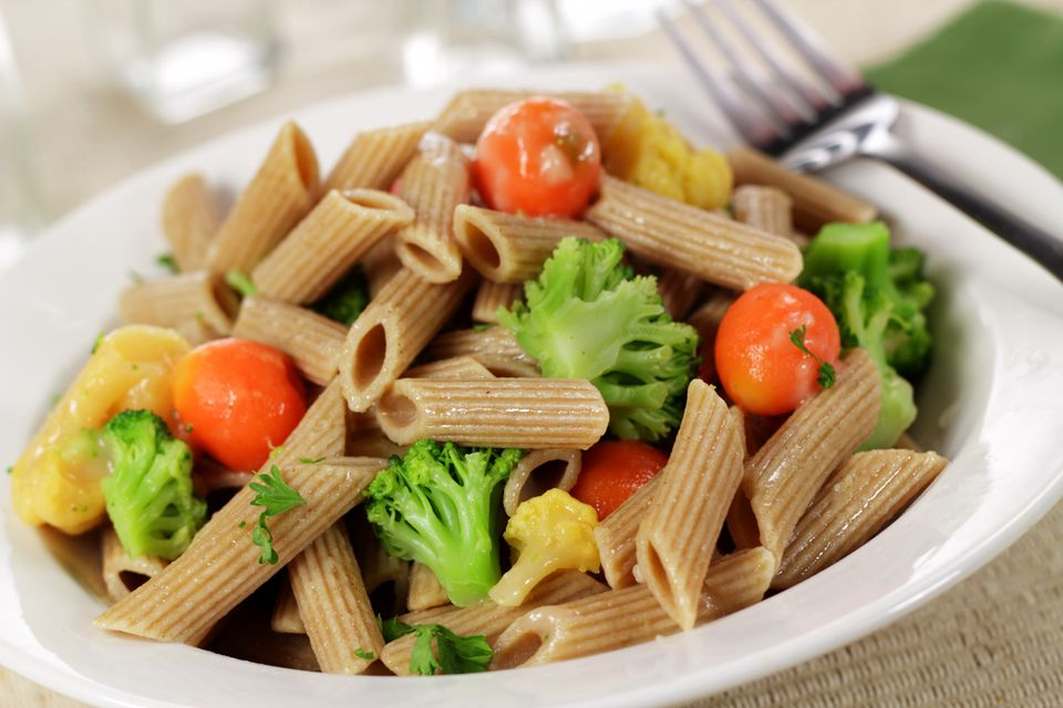 Whole Wheat Pasta Primavera With Vegetables