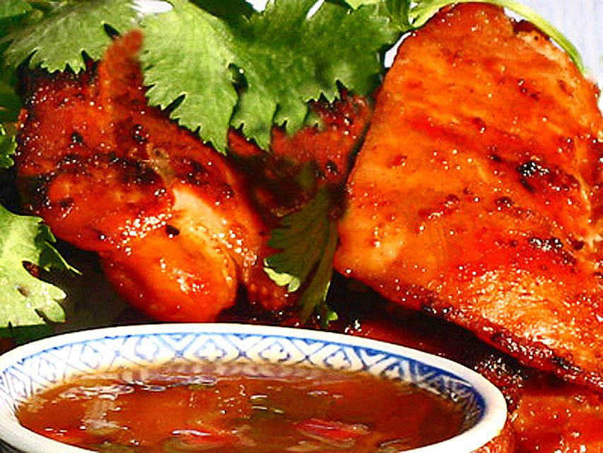 Thai BBQ Chicken with Dipping Sauce