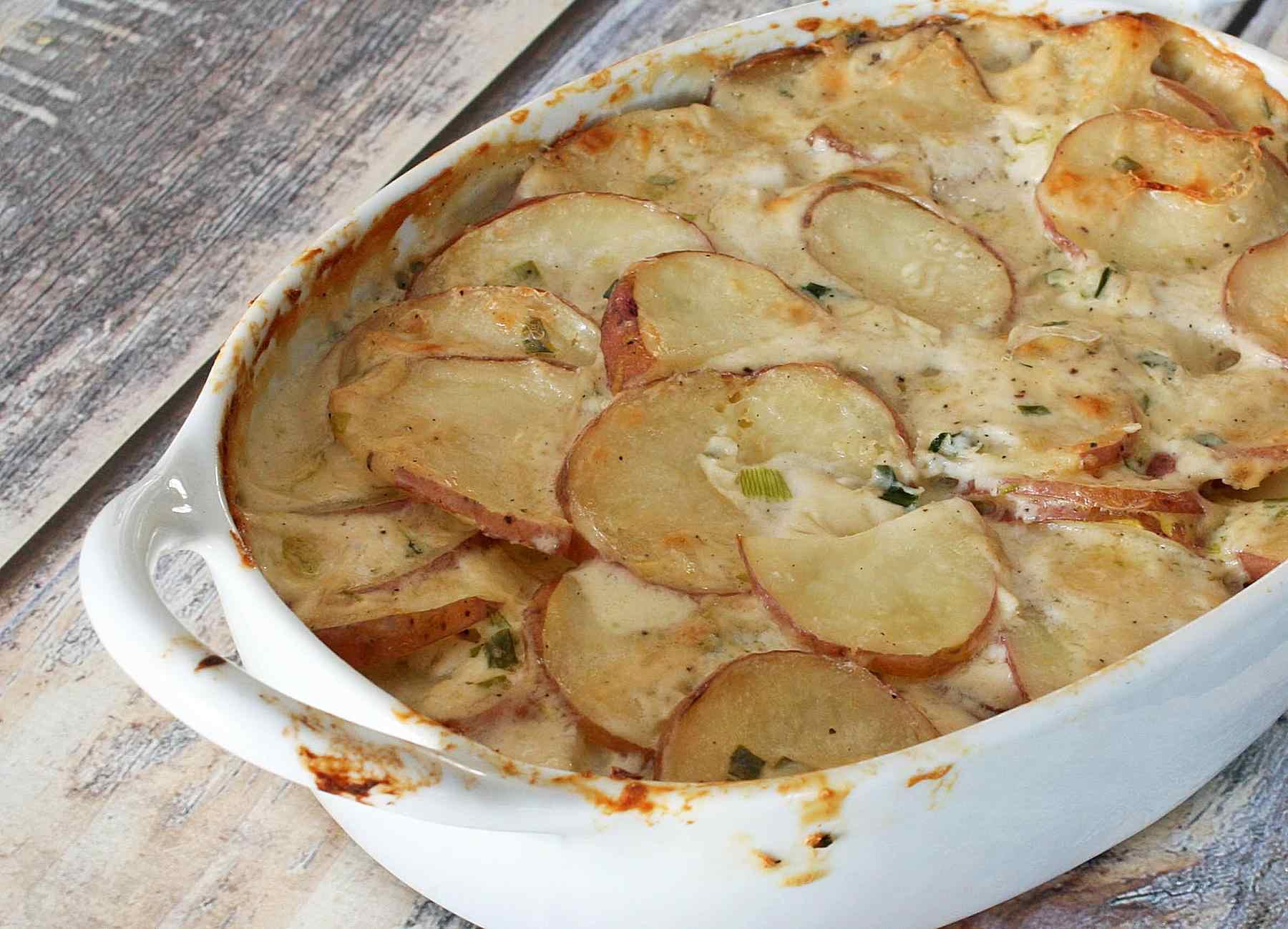 Savory Scalloped Potatoes With Green Onion