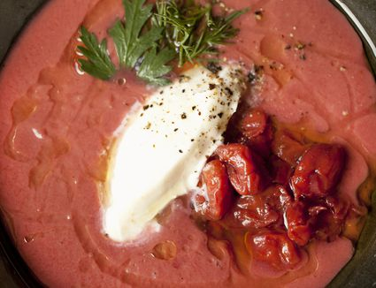 Hungarian sour cherry soup