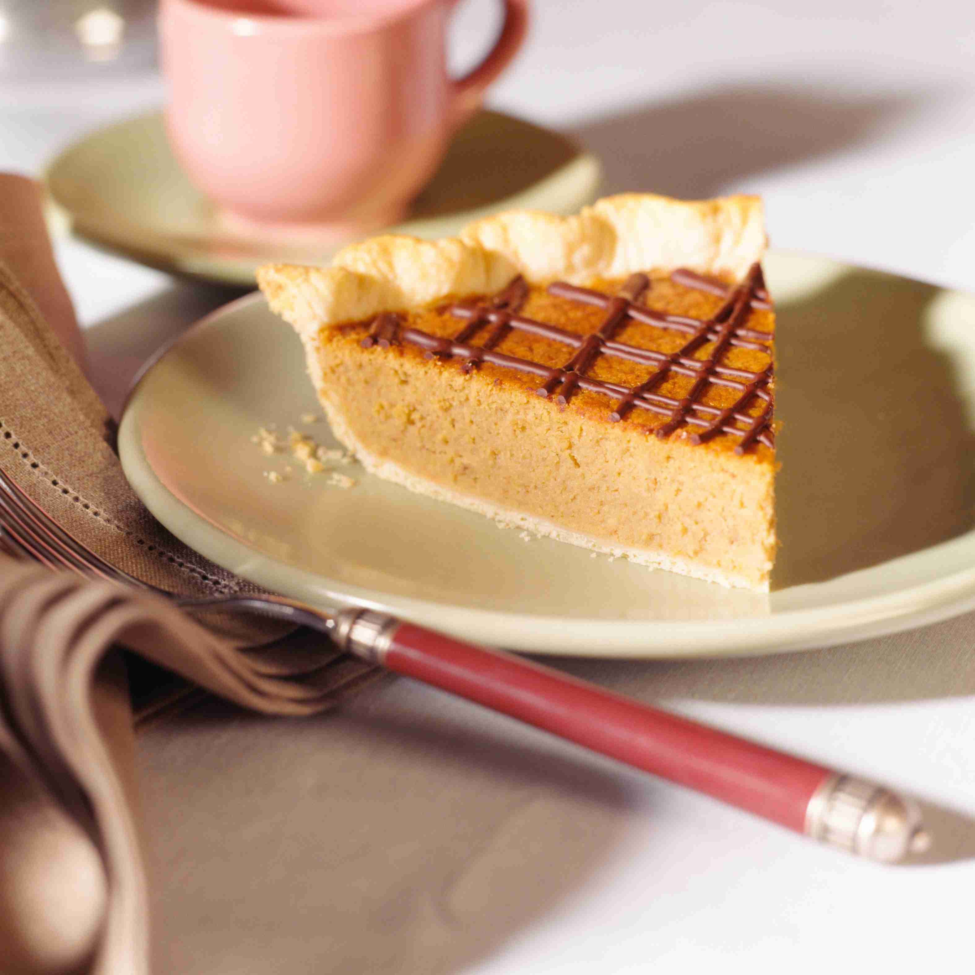 Pumpkin Pie with chocolate