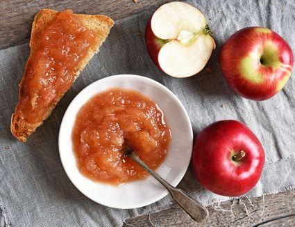 Apple orange marmalade on toast