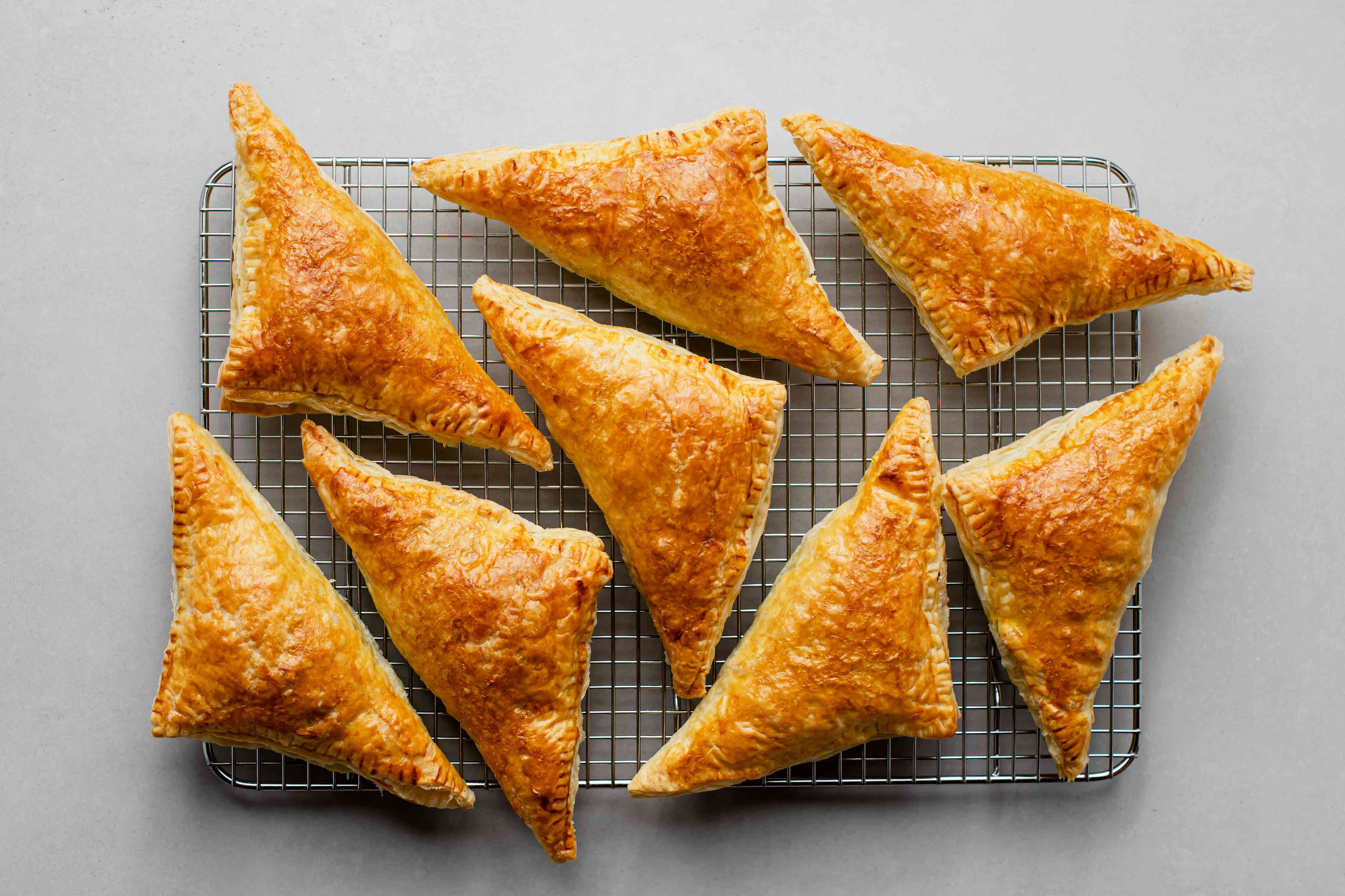 Indian Curry Puffs on a cooling rack