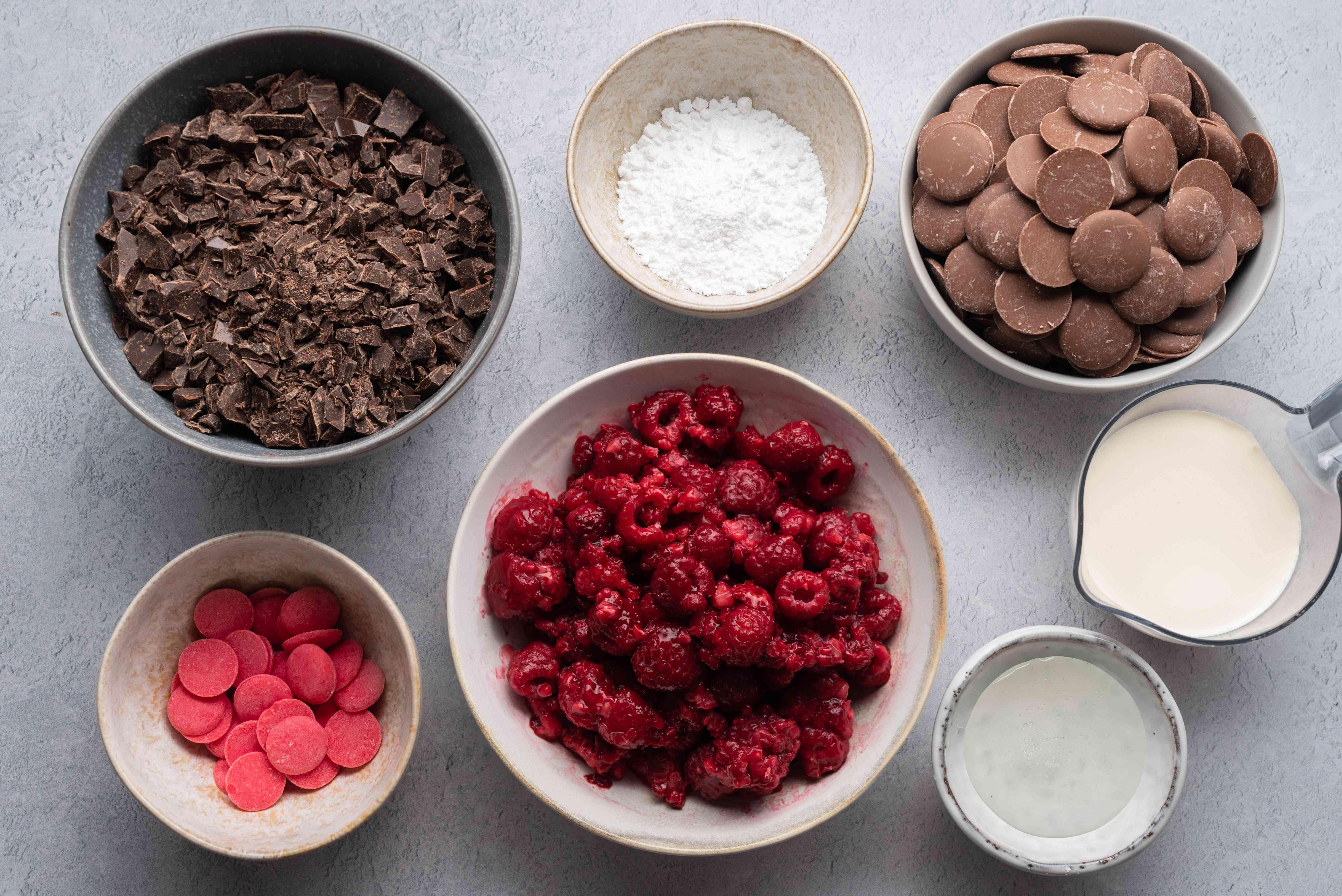 Chocolate Raspberry Truffles ingredients