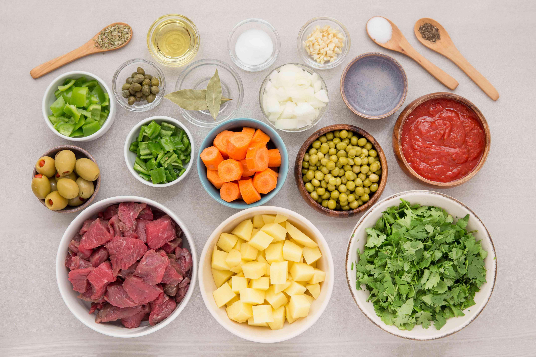 Caribbean Beef Stew (Carne Guisada) ingredients