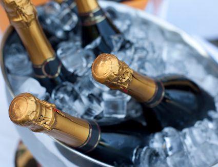 mini bottles of champagne