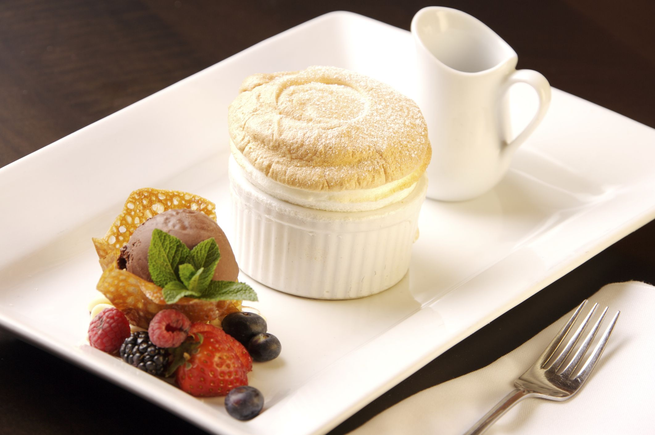 White Chocolate Soufflé the French Way
