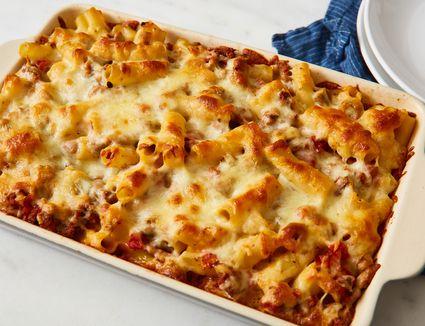 Easy Baked Ziti With Ground Beef and Cheese
