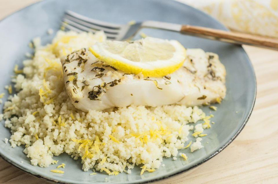 Baked Lemon Garlic Cod