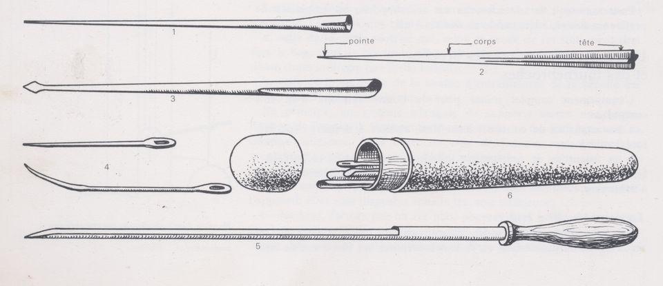 Larding needle set