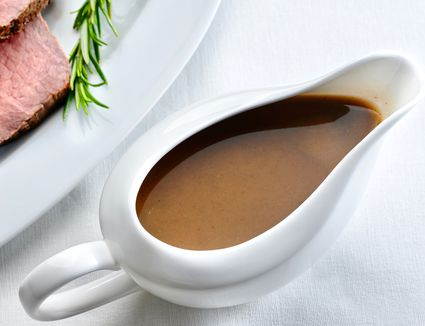 Traditional Beef Gravy in a gravy boat