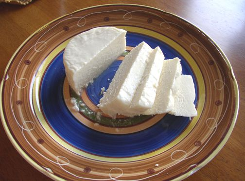 Sliced queso blanco