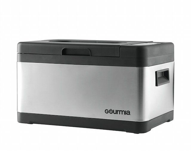 Gourmia GSV900 Sous Vide Self Contained Circulating Water Oven with Rack - Stainless Steel - 10 Quart- Includes Free Recipe Book - 110V