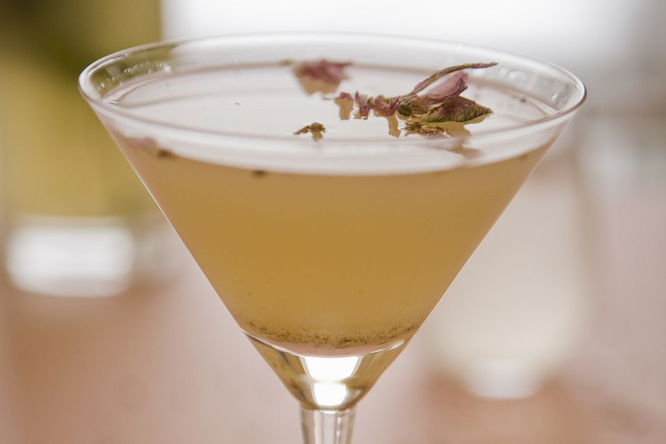 Easy lavender martini