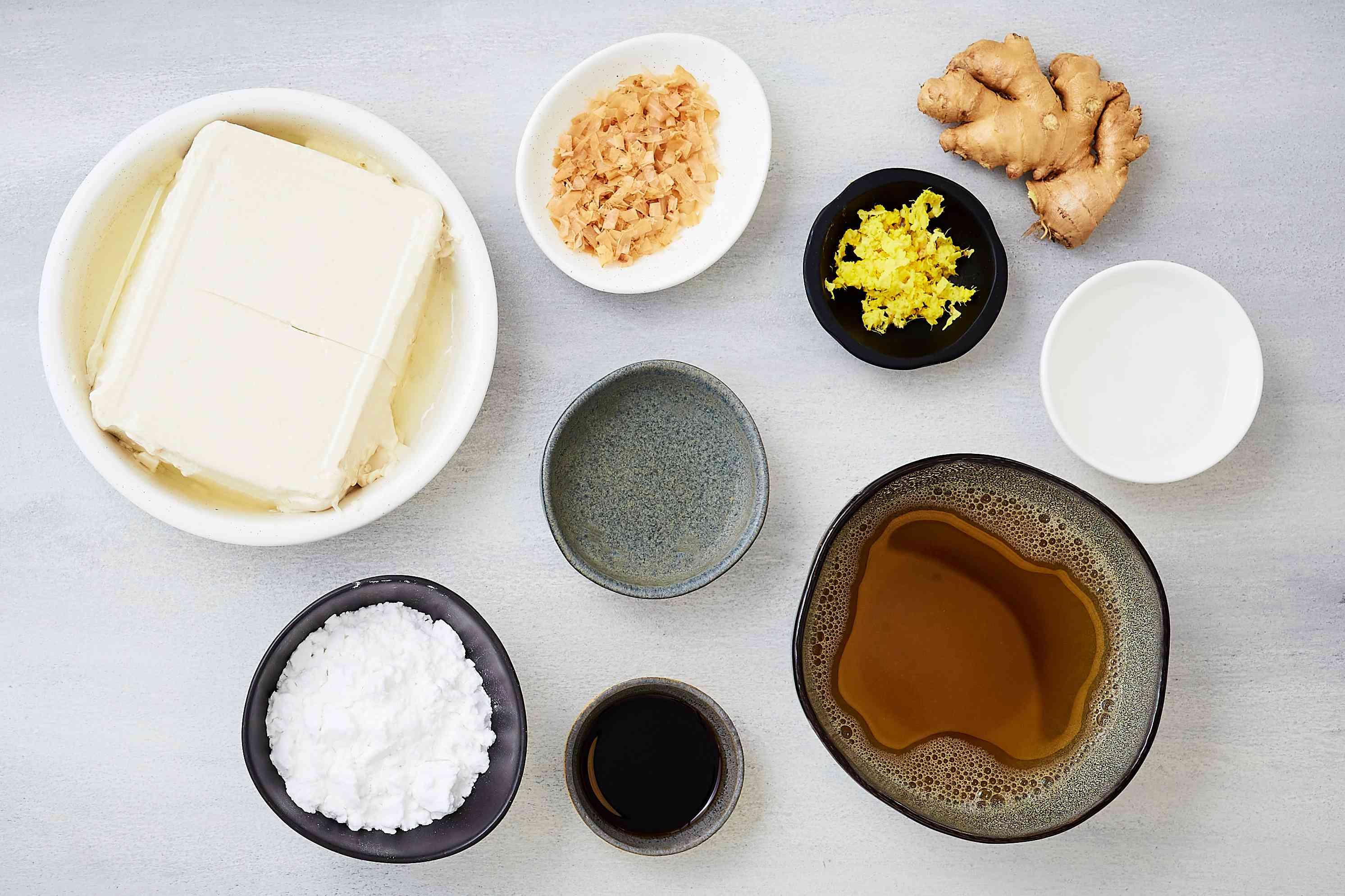 Agedashi Dofu: Japanese Fried Tofu in a Dashi-Based Sauce ingredients