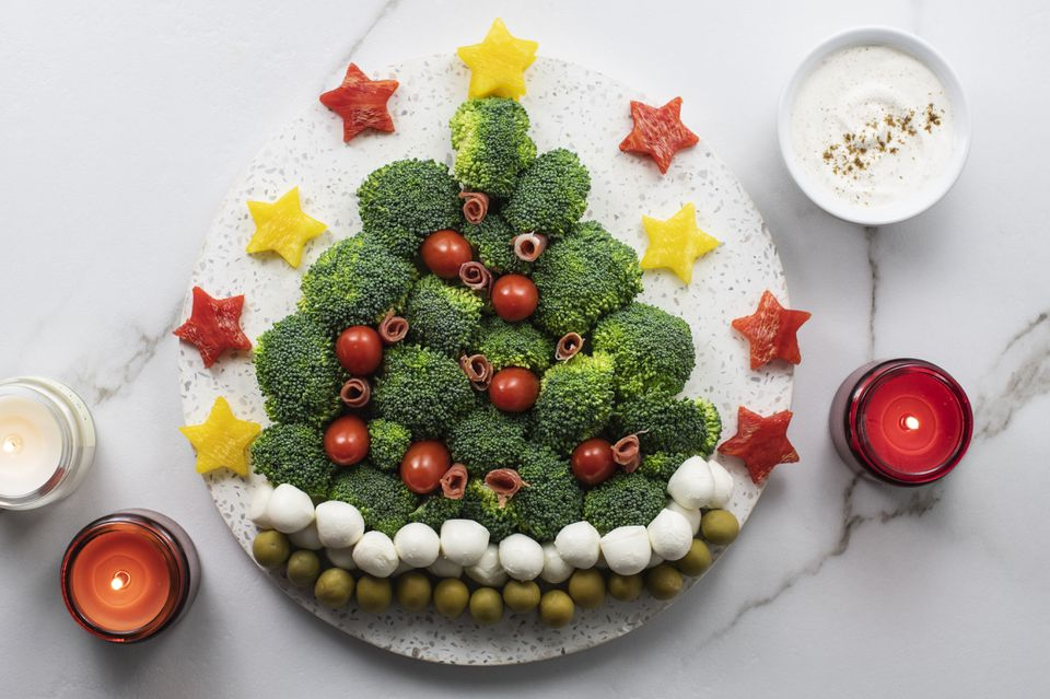 Crudite Christmas tree recipe