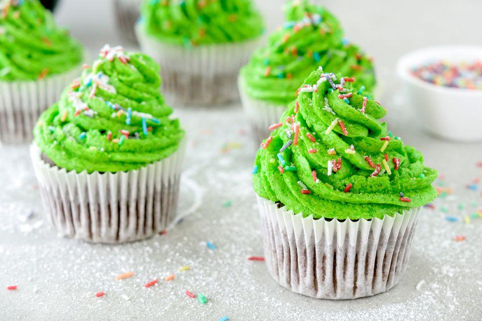 Christmas tree cupcakes recipe