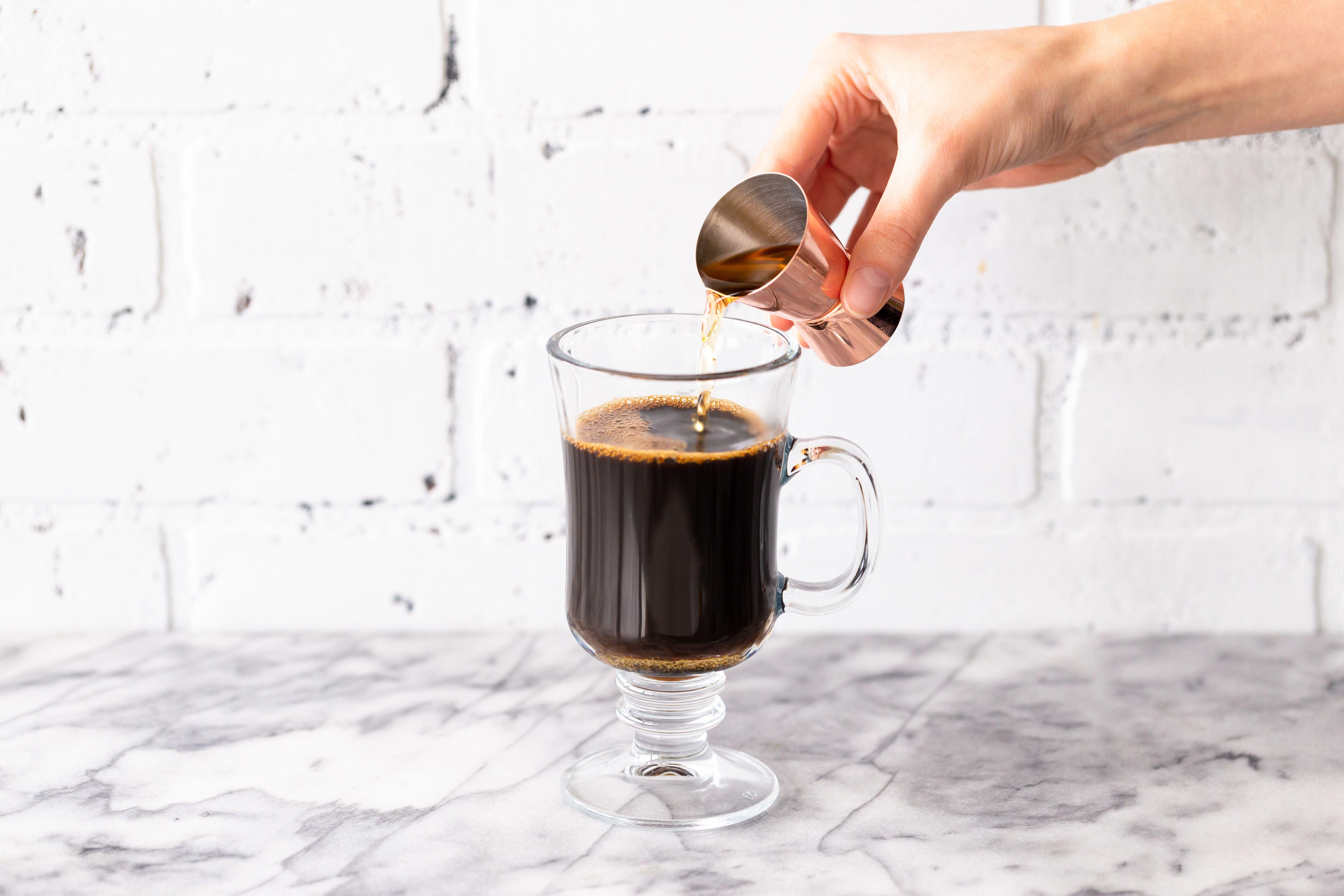 Add the Irish whiskey to the coffee