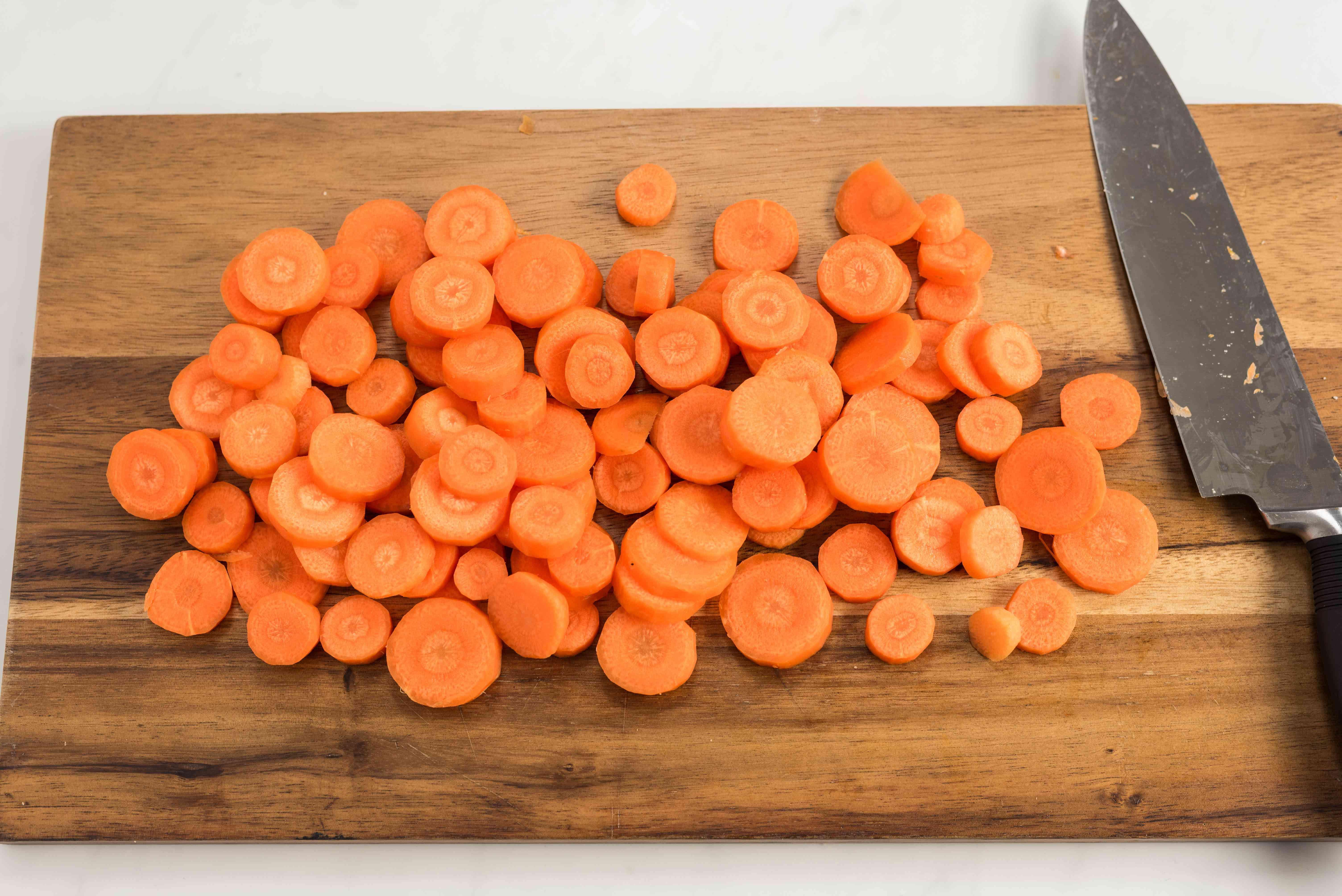 Peel carrots