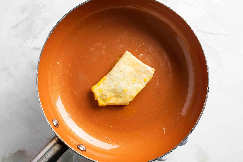 BAC finishing cooking in pan