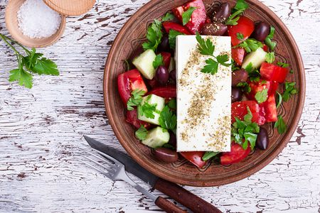 Ancient greek food recipes traditional greek salad forumfinder Image collections