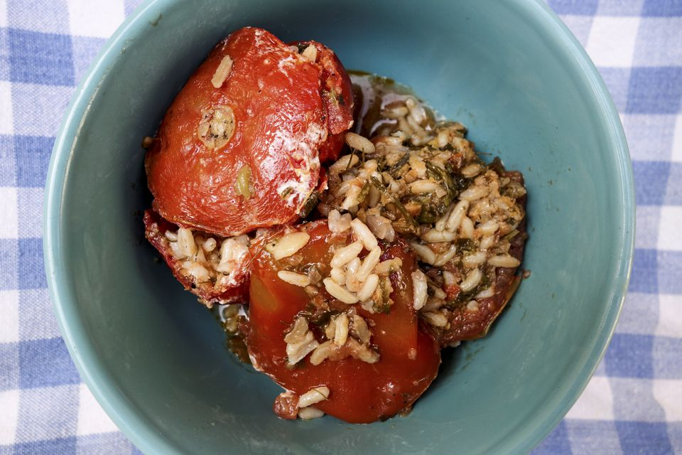 Stuffed Tomato with Rice