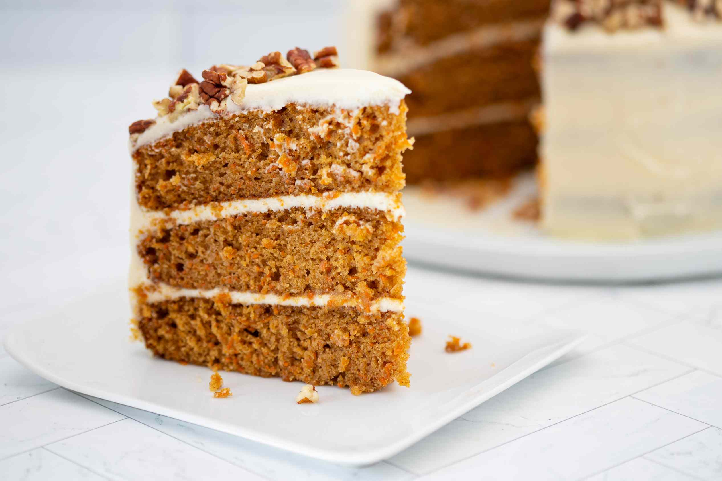 3 layer carrot cake with cream cheese frosting