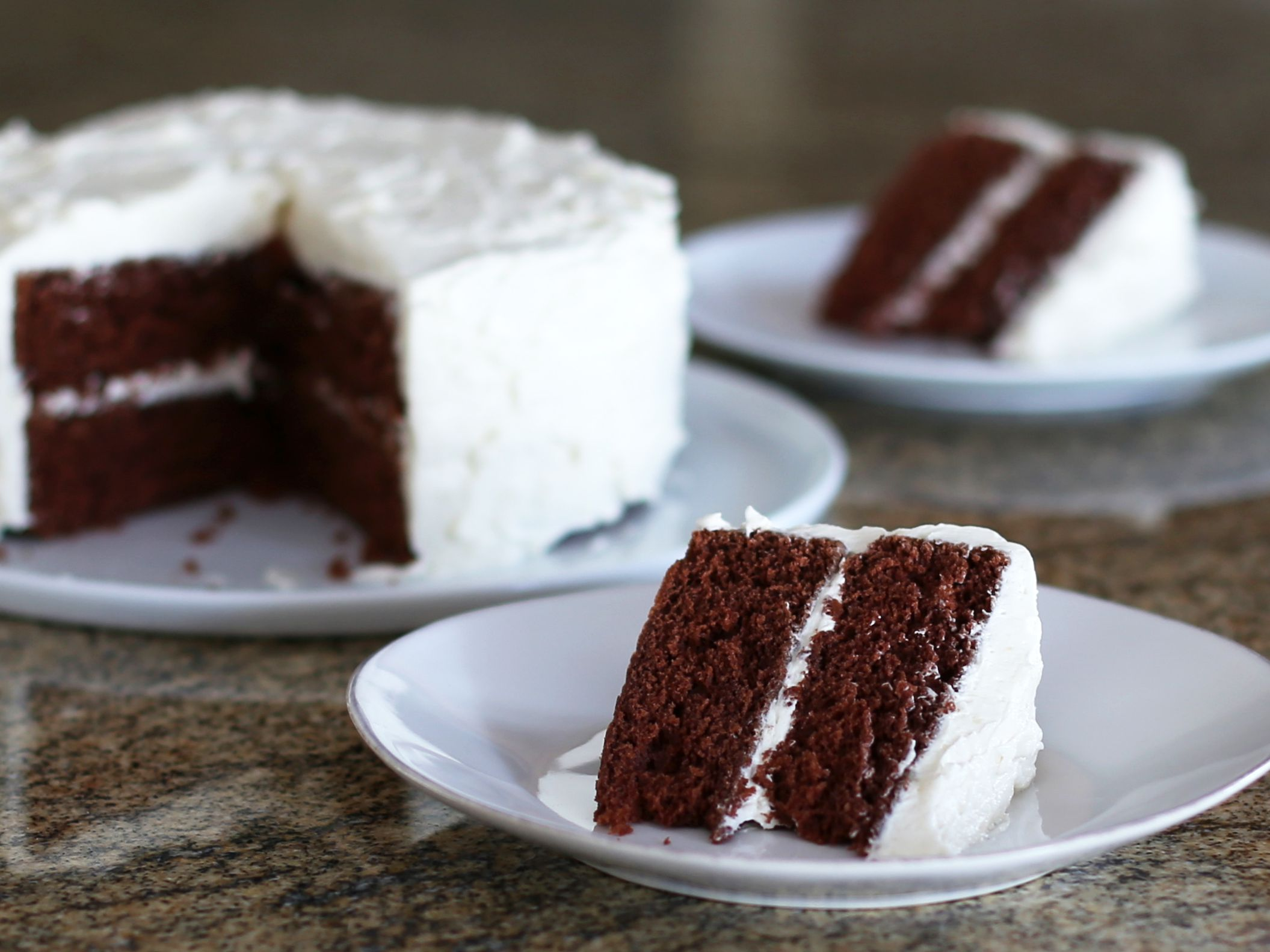 Devil S Food Cake With Vanilla Frosting Recipe