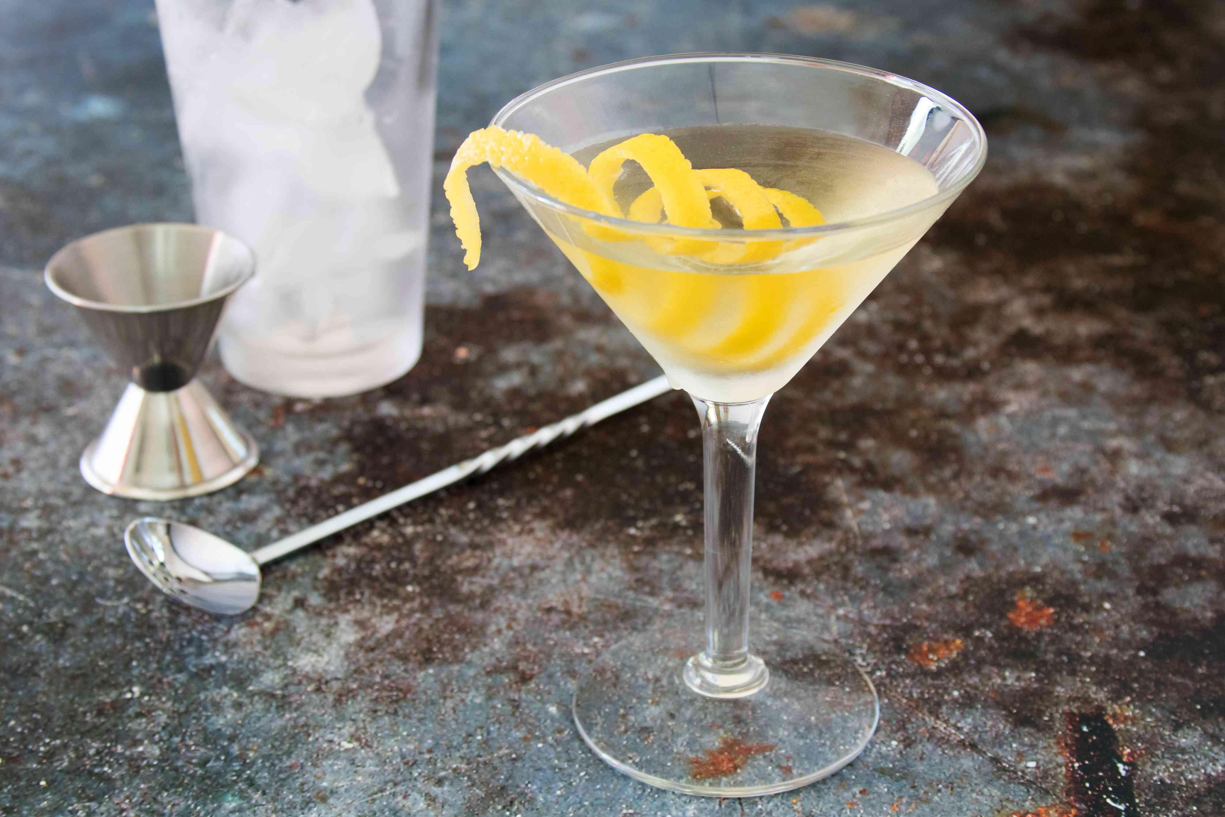 Smoky Martini With a Lemon Twist