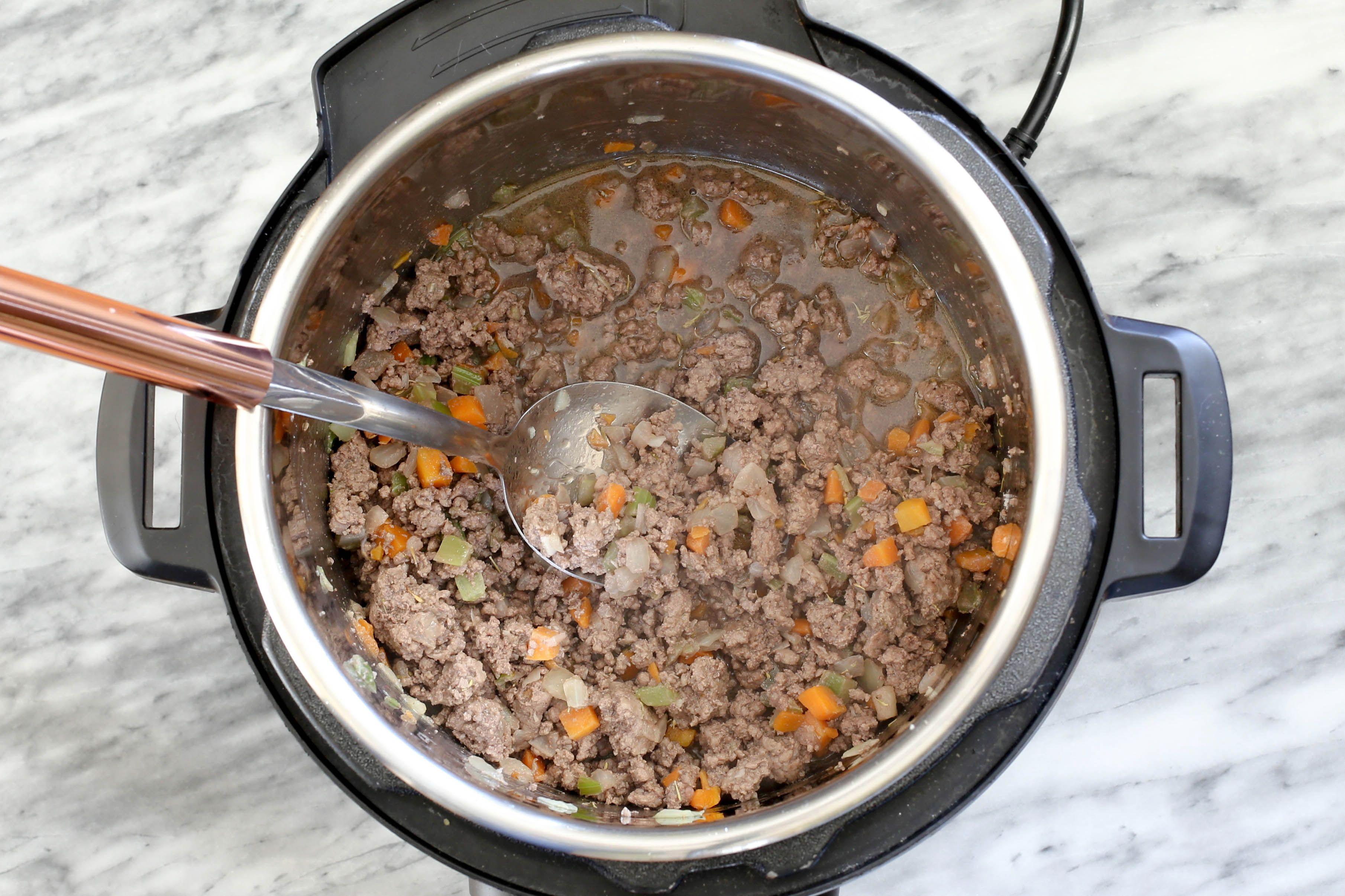 Making Instant Pot Bolognese sauce