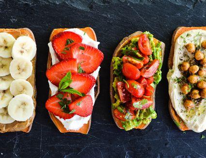 Sweet and Savory Sweet Potato Toasts