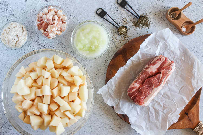 Ingredients for Slovak potato sausage