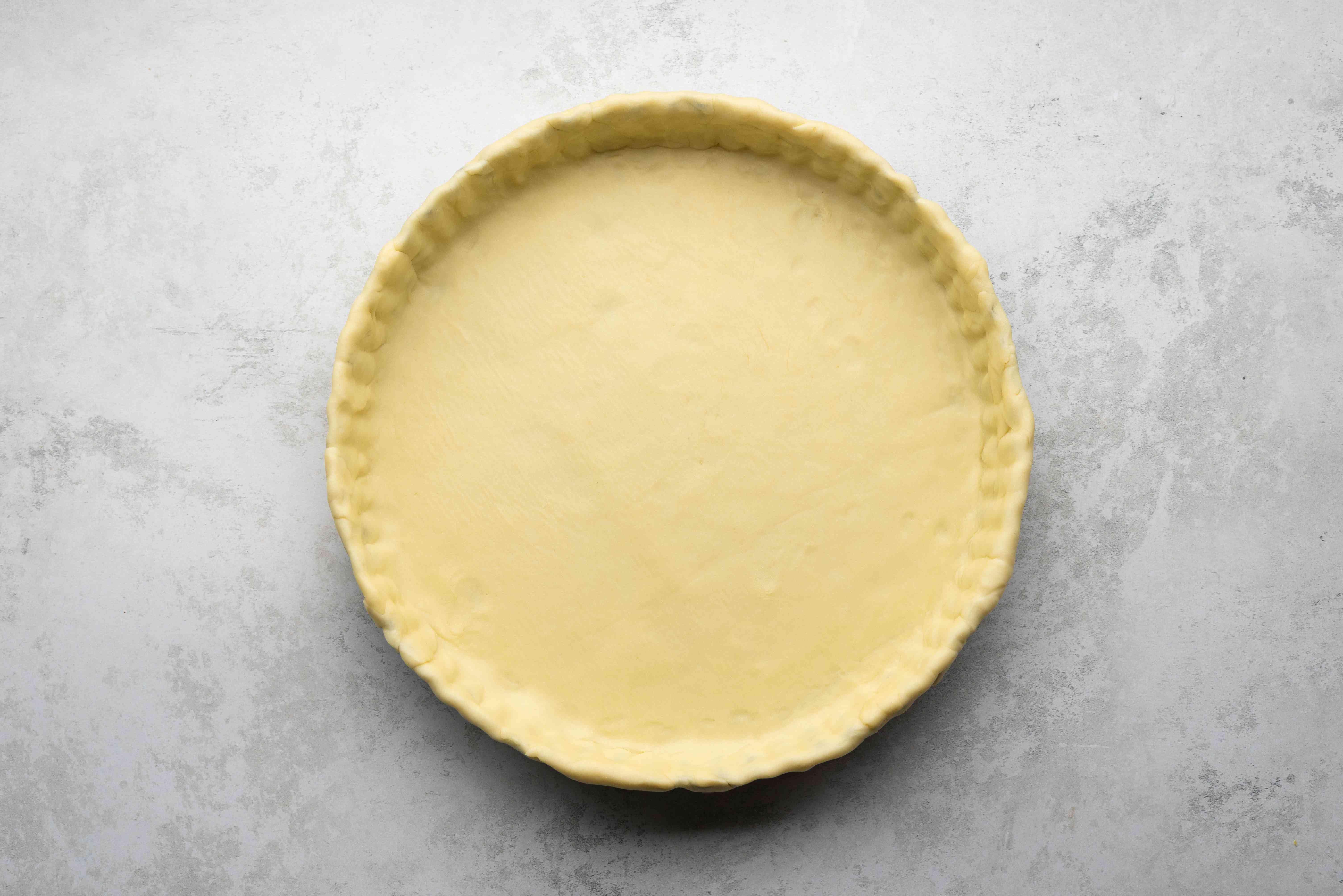 dough in a tart pan