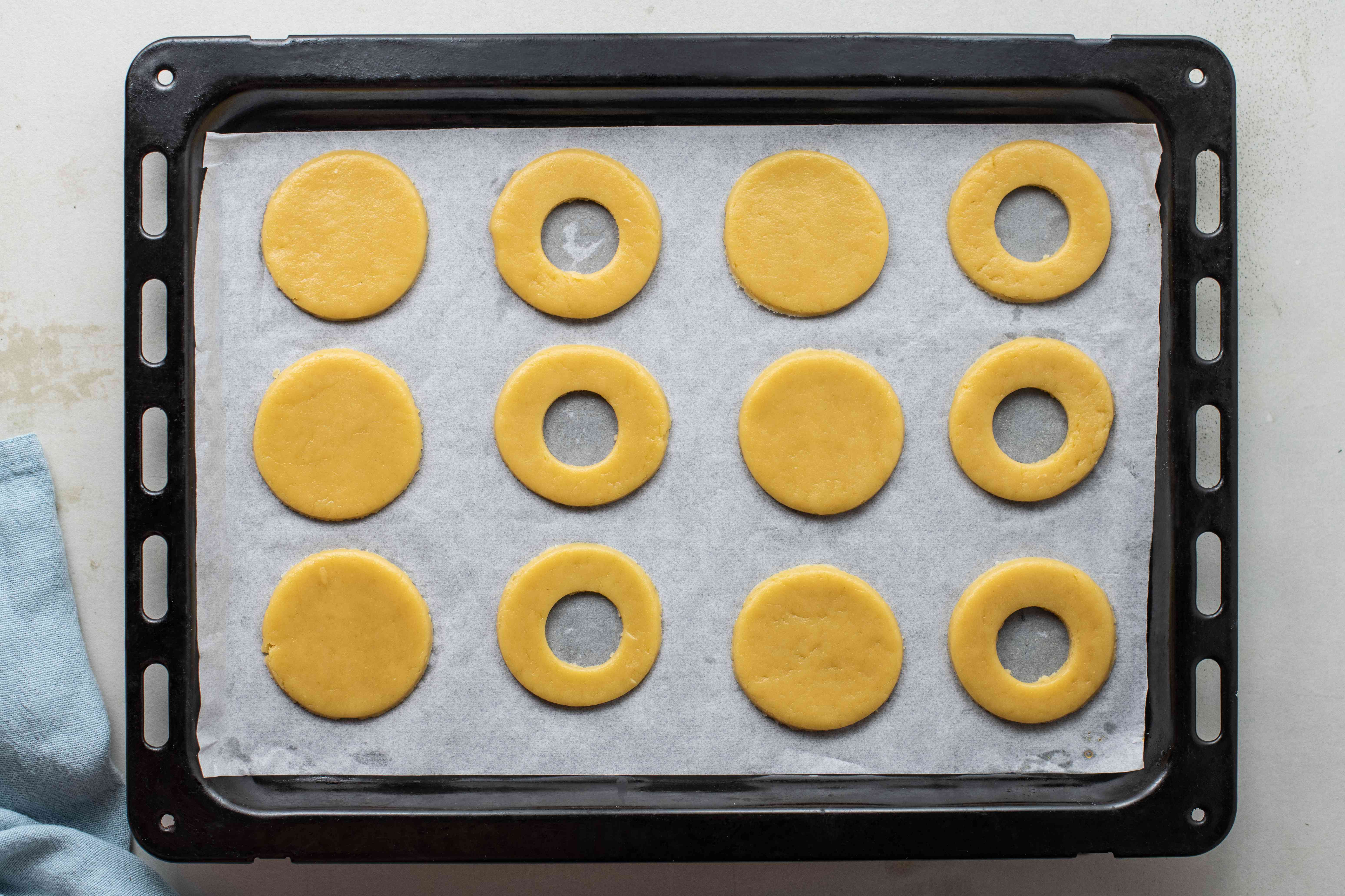 Cut a hole in center of cookies