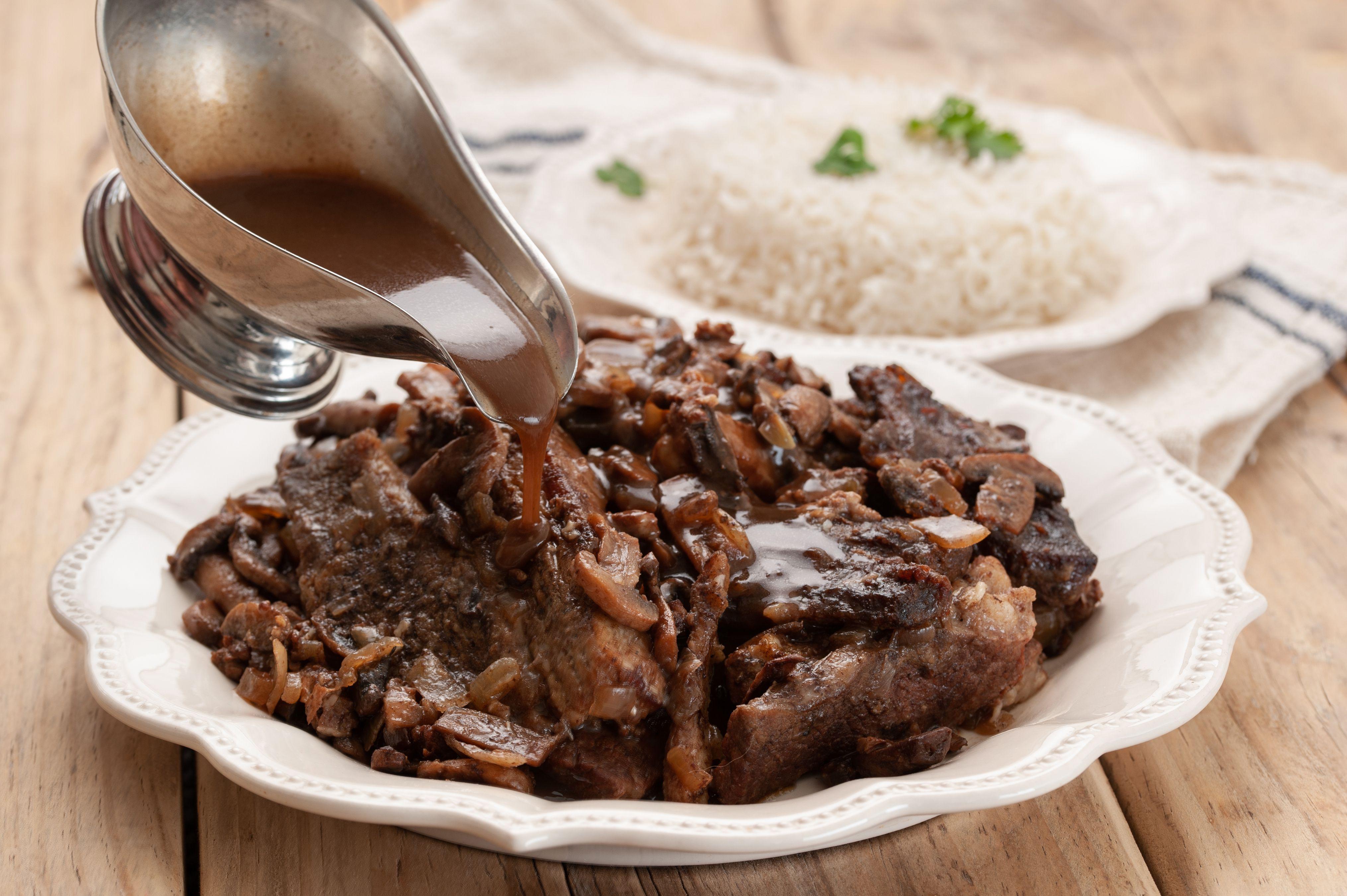 Serve short ribs with gravy