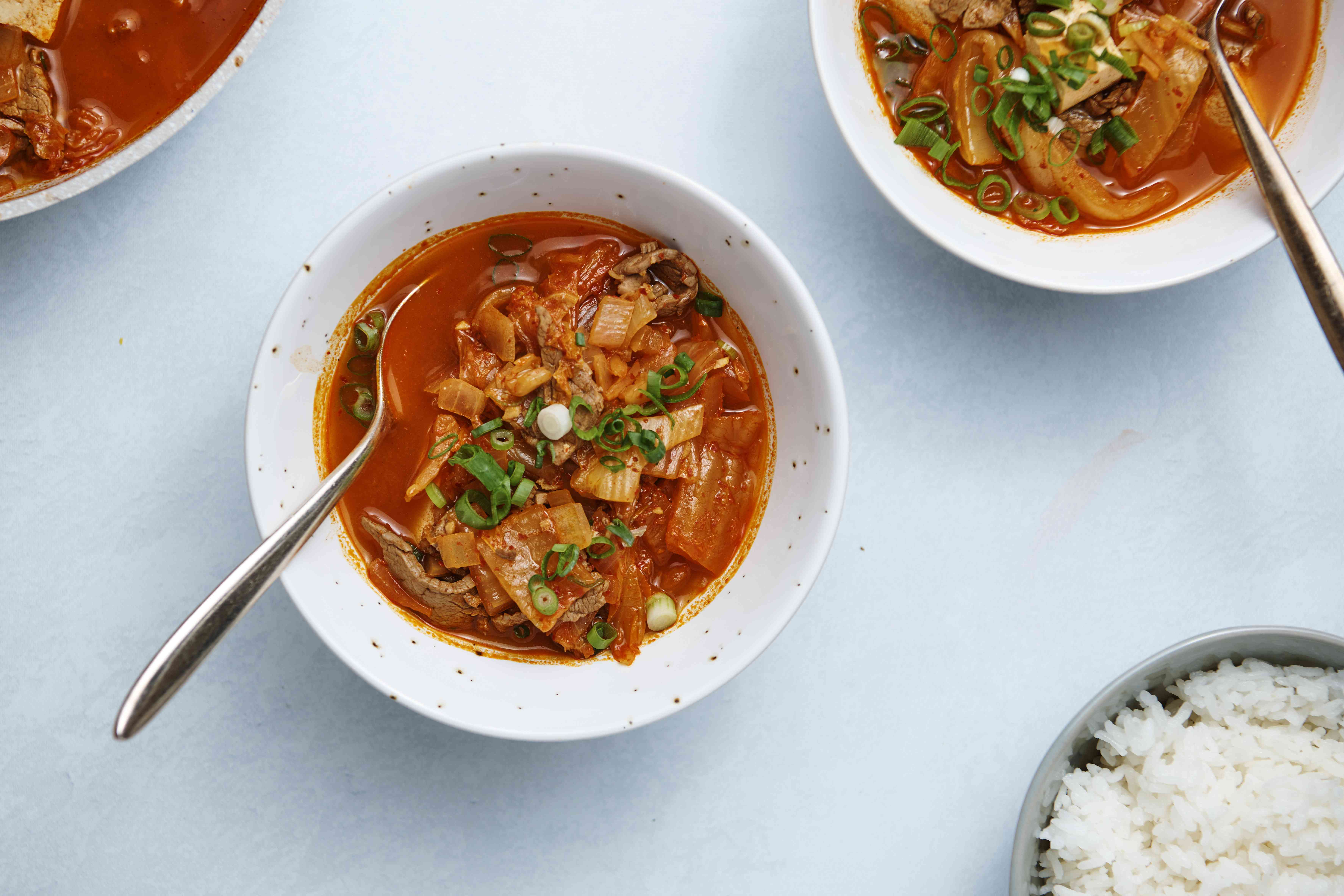 Spicy Kimchi Stew (Kimchi Jjigae or Kimchi Chigae)