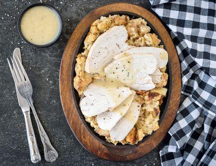 Simple crockpot turkey breast and dressing