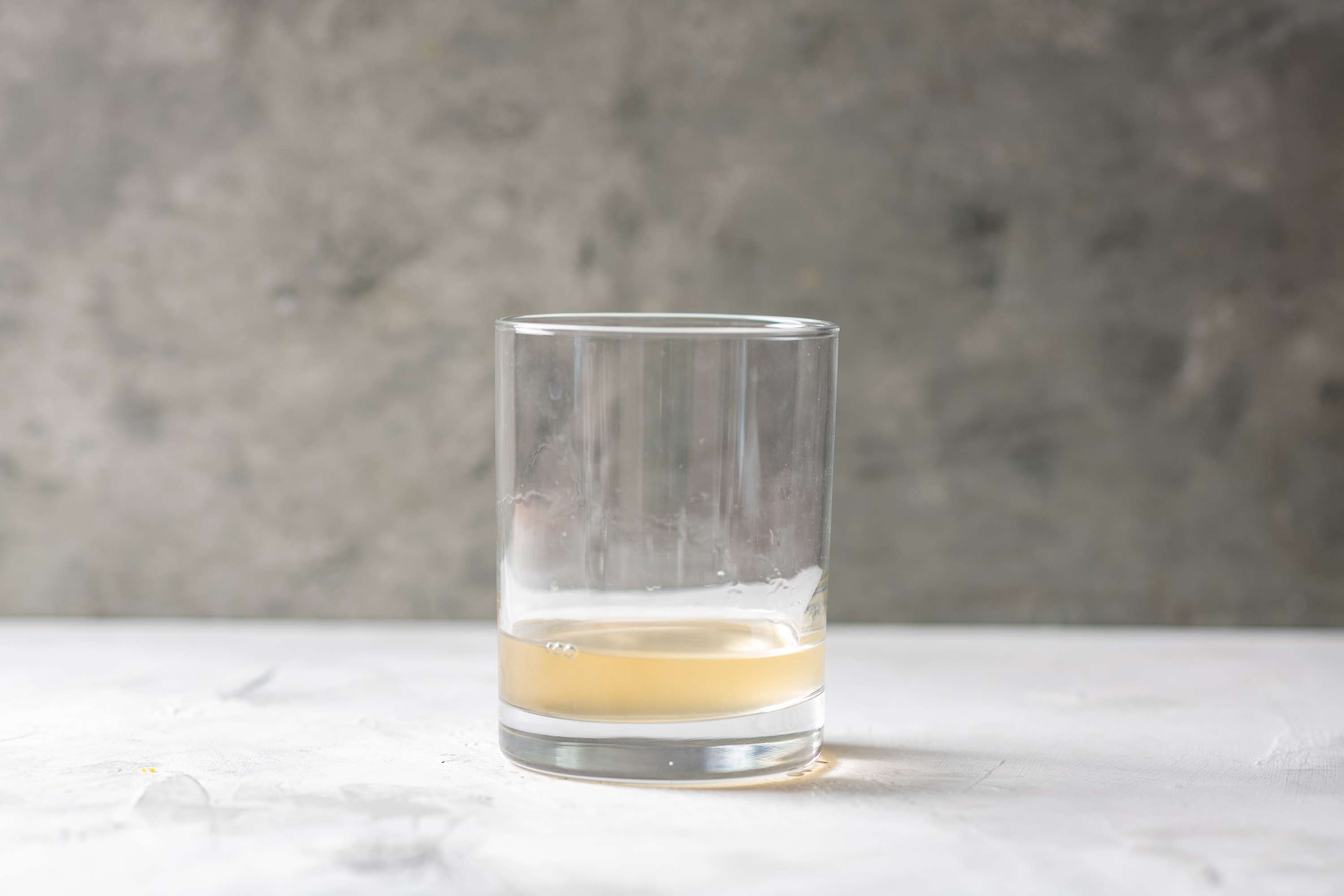 tequila and soda in an old-fashioned glass
