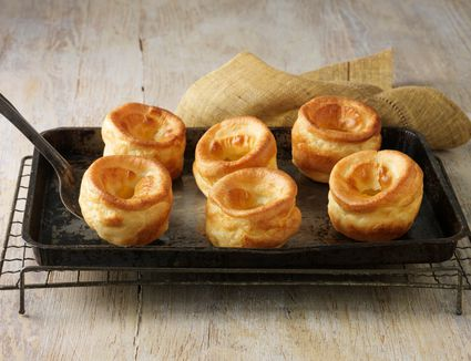 Yorkshire puddings on a pan