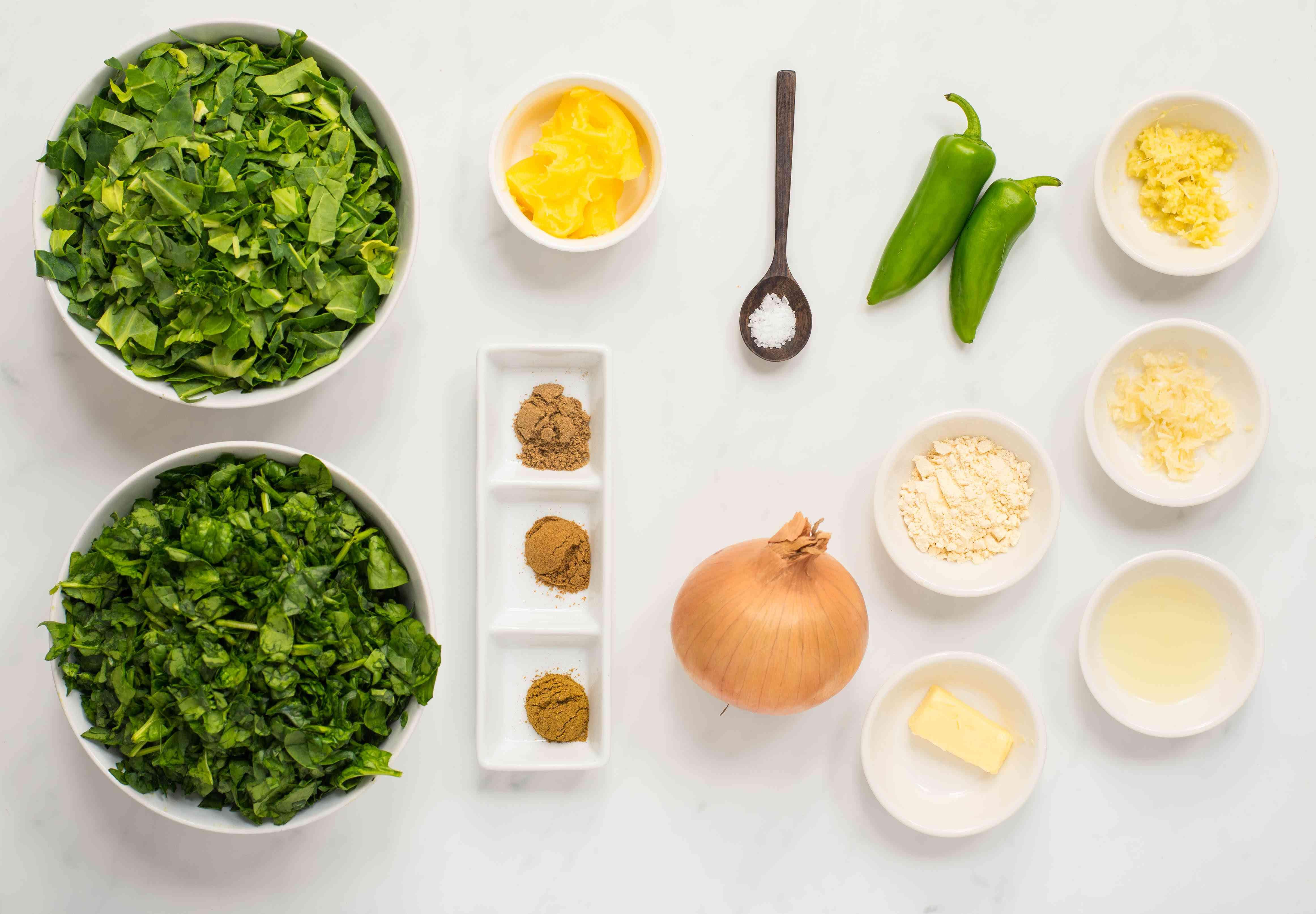 Ingredients for sarson ka saag