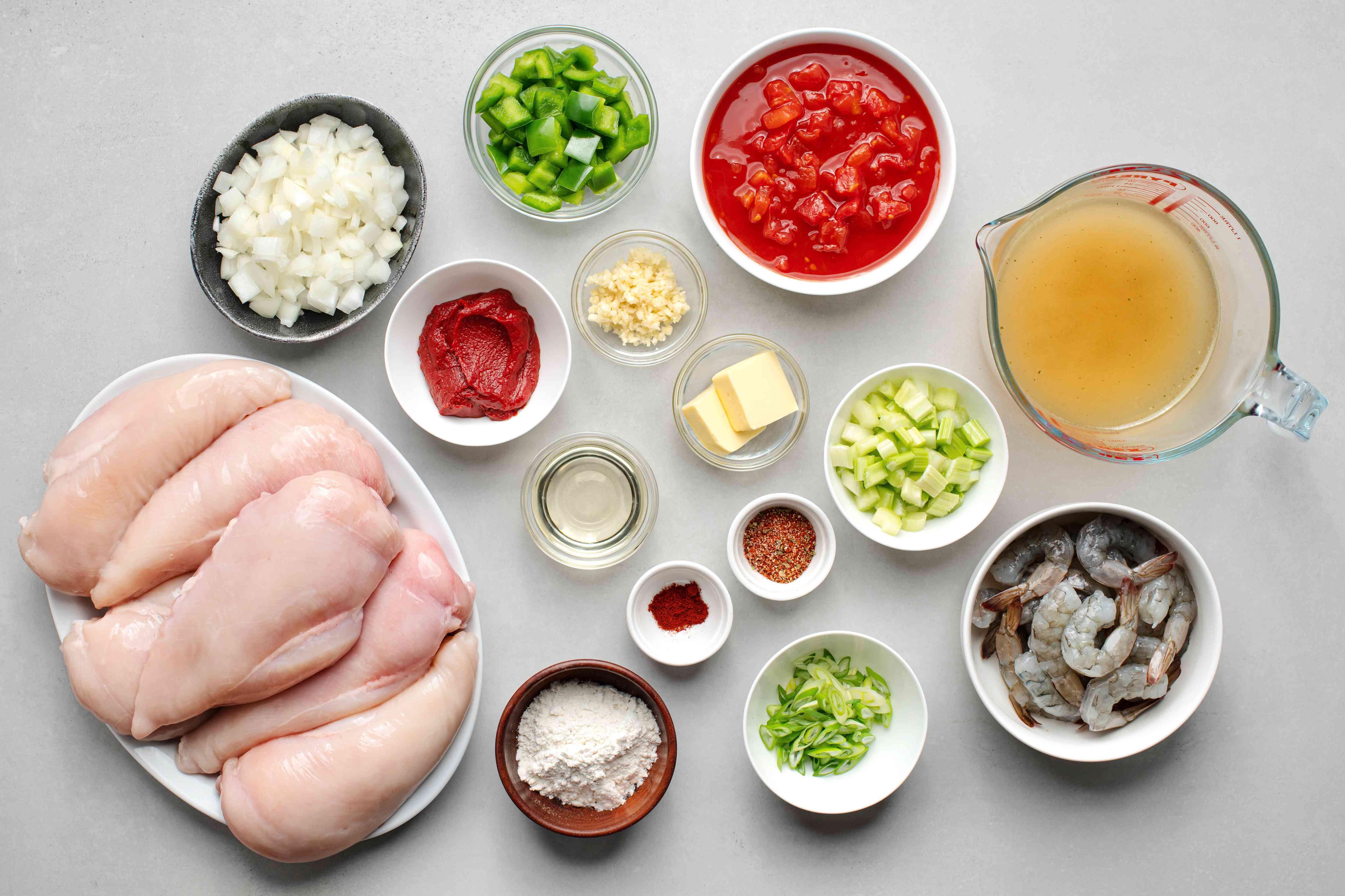 Chicken Étouffée ingredients