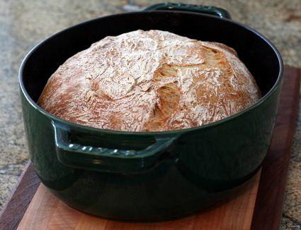 Finished no knead rye bread