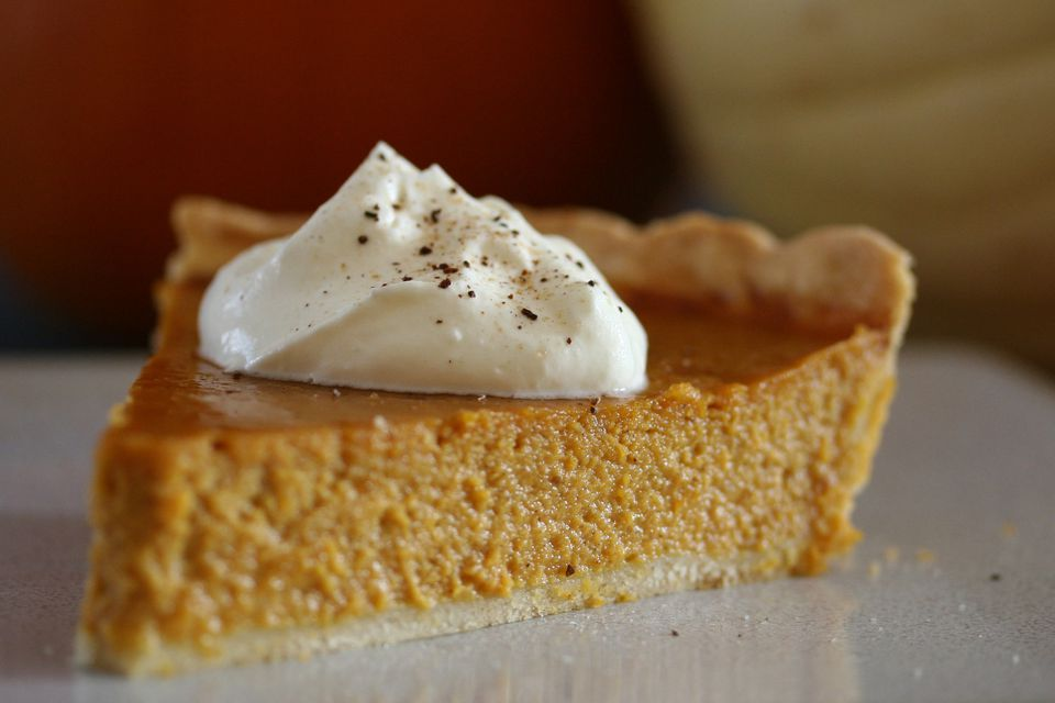 Maple Whipped Cream on Pumpkin Pie