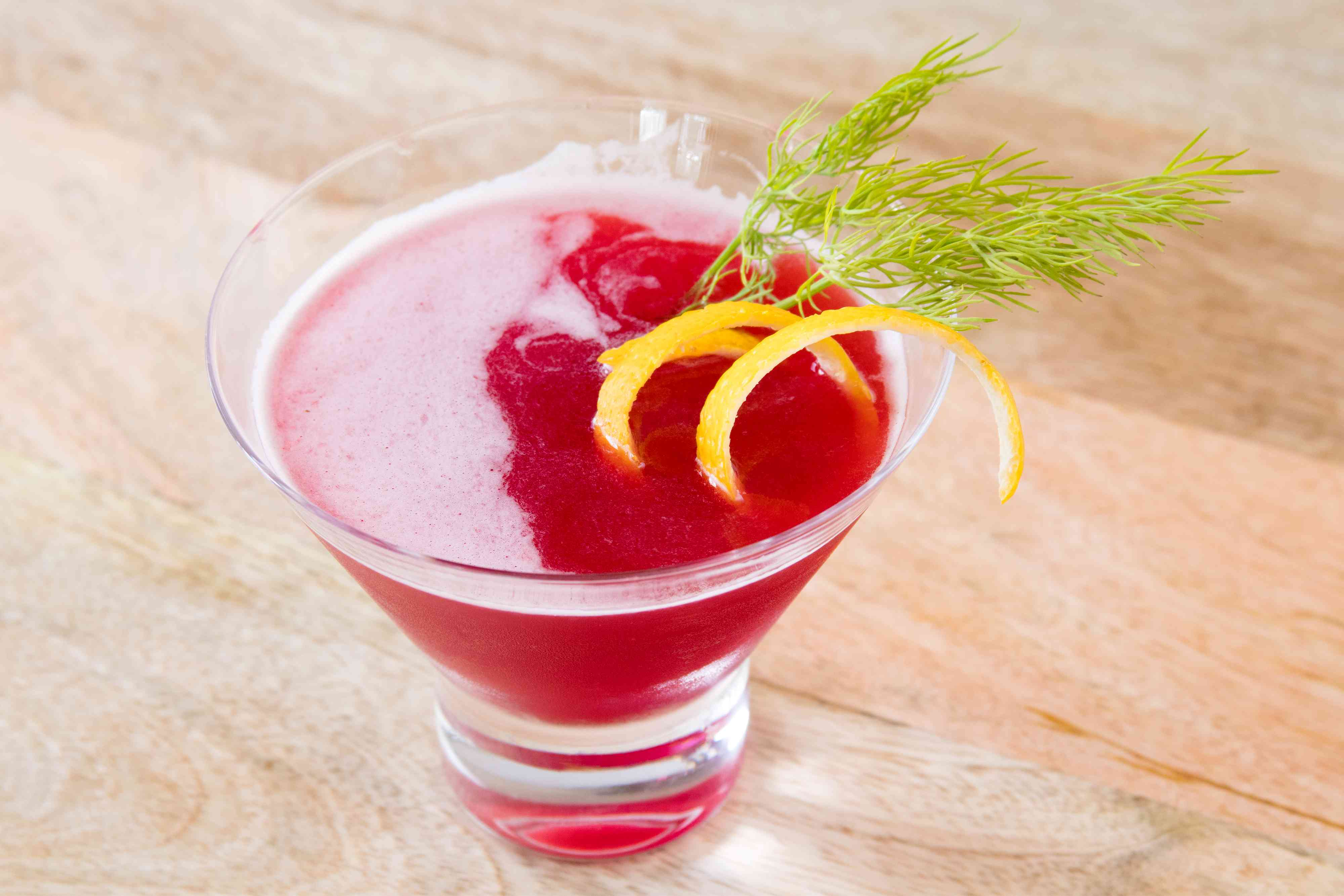 Ruby Queen Scotch Whisky and Beet Juice Cocktail