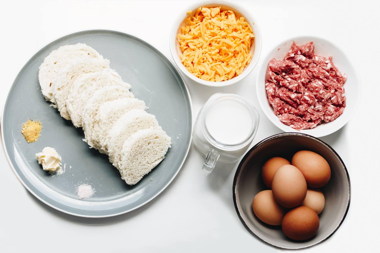 Overnight sausage and egg casserole