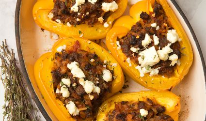 Greek Stuffed Peppers Recip