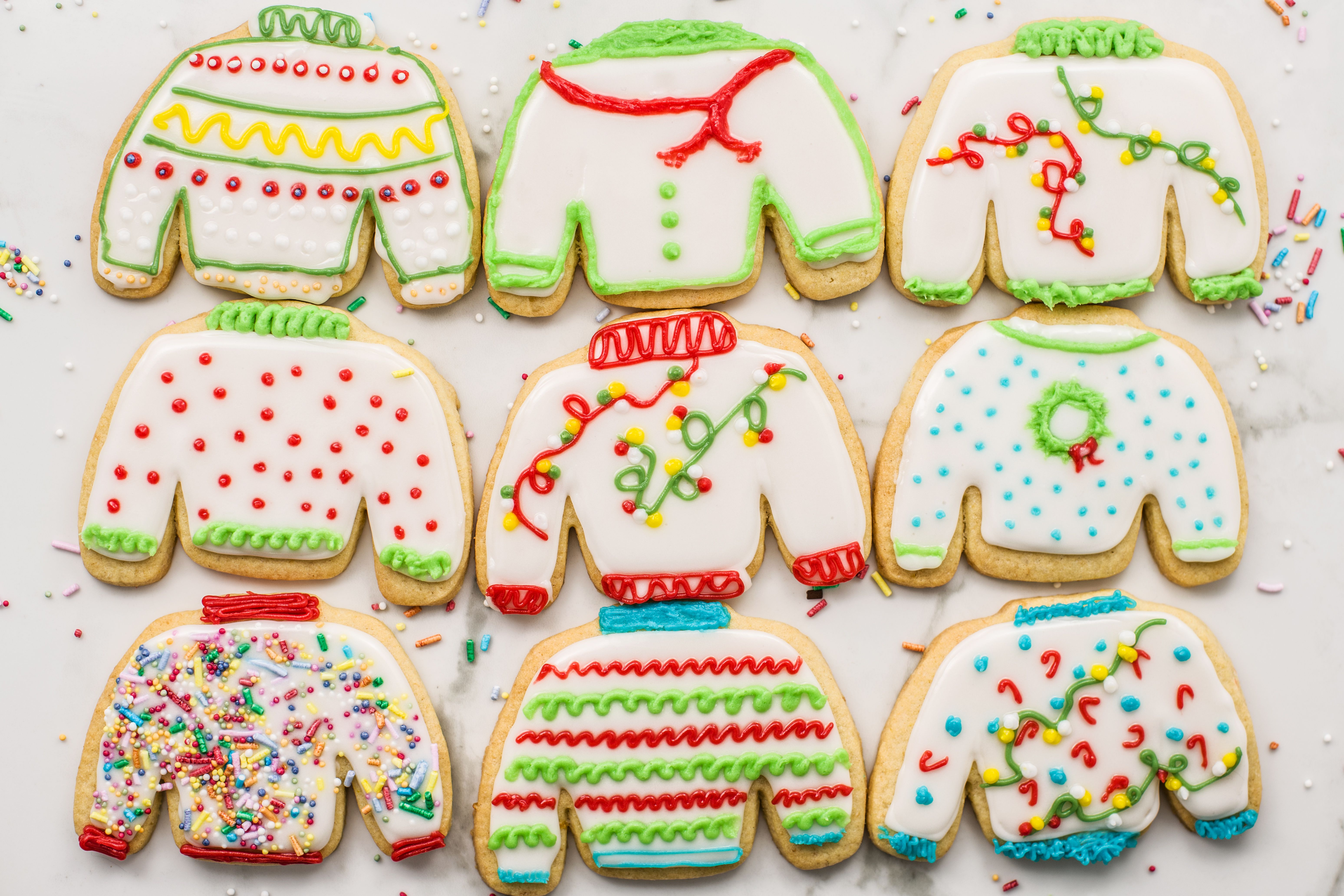 Ugly Sweater Christmas Cookies